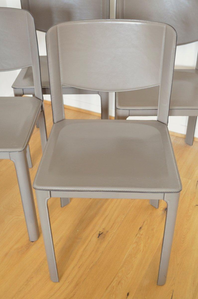 lederst hle von tito agnoli f r matteo grassi 1980er 4er set bei pamono kaufen. Black Bedroom Furniture Sets. Home Design Ideas