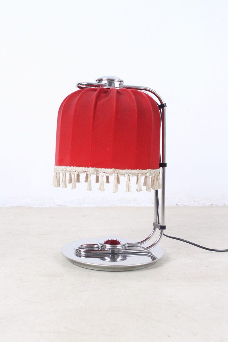 chrom tischlampe mit roter leuchte 1960er bei pamono kaufen. Black Bedroom Furniture Sets. Home Design Ideas