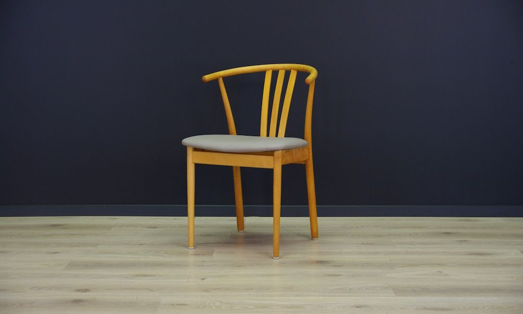 d nische mid century st hle mit buche furnier 6er set bei pamono kaufen. Black Bedroom Furniture Sets. Home Design Ideas