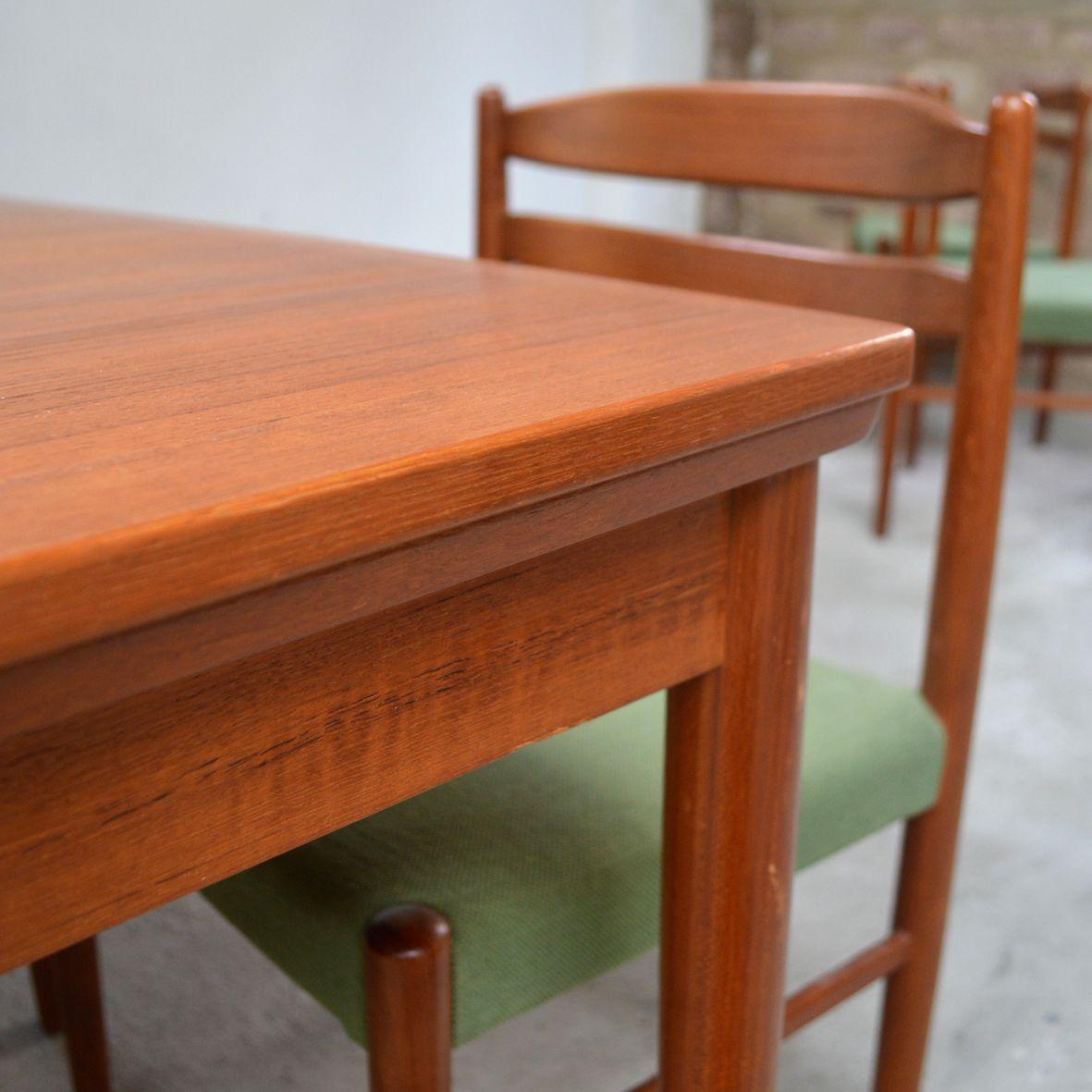skandinavische mid century teak st hle 4er set bei pamono kaufen. Black Bedroom Furniture Sets. Home Design Ideas
