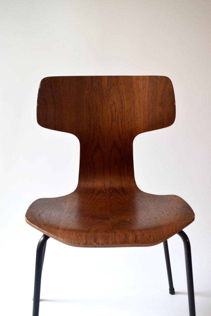 vintage 3103 stuhl von arne jacobsen f r fritz hansen bei pamono kaufen. Black Bedroom Furniture Sets. Home Design Ideas