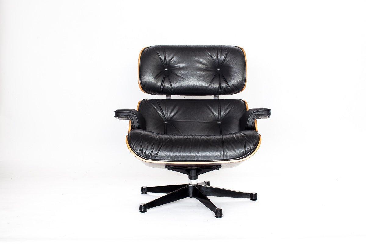 fauteuil eames vintage par charles ray eames pour vitra en vente sur pamono. Black Bedroom Furniture Sets. Home Design Ideas