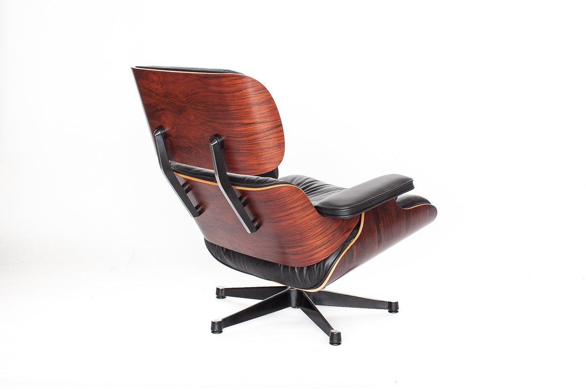 vintage eames lounge chair by charles ray eames for. Black Bedroom Furniture Sets. Home Design Ideas