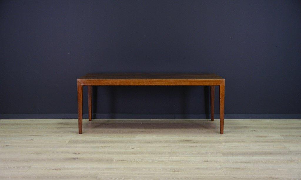 Vintage Danish Rosewood Coffee Table By Severin Hansen For Haslev  Møbelsnedkeri