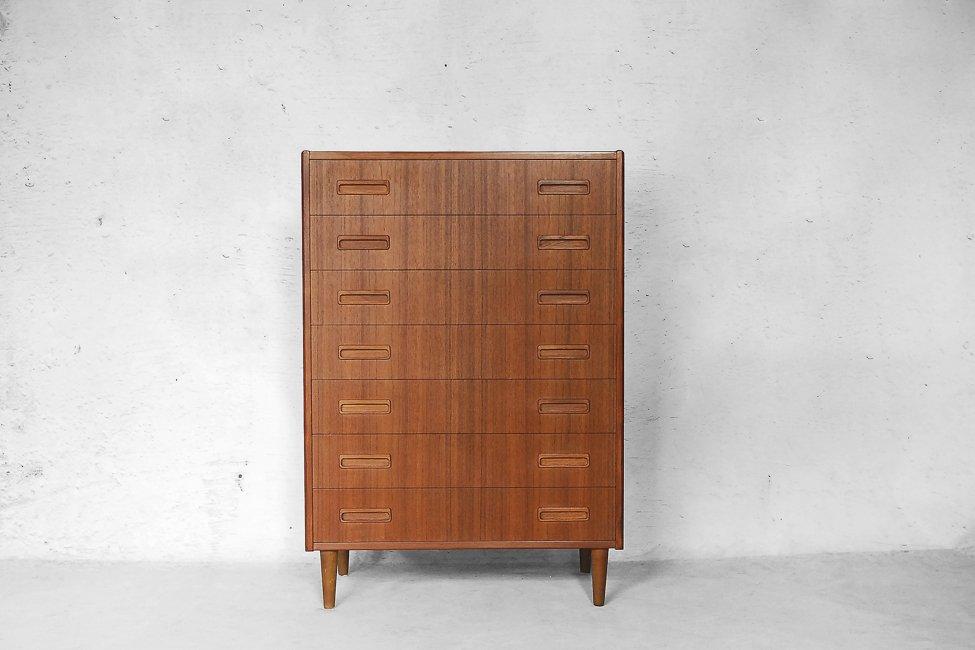 meubles mid century moderne en placage de teck par b rge seindal pour westergaard m belfabrik. Black Bedroom Furniture Sets. Home Design Ideas