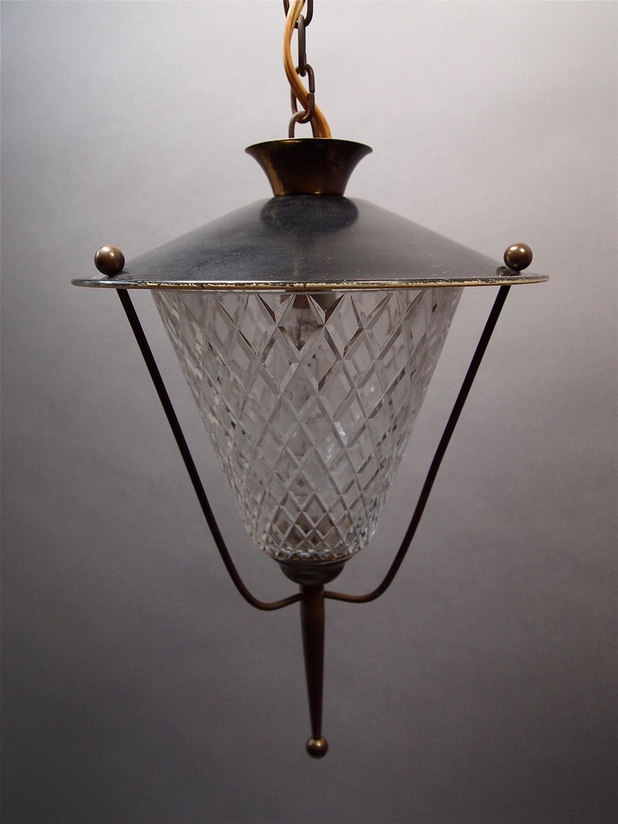 lanterne de plafond de maison lunel 1950s en vente sur pamono. Black Bedroom Furniture Sets. Home Design Ideas