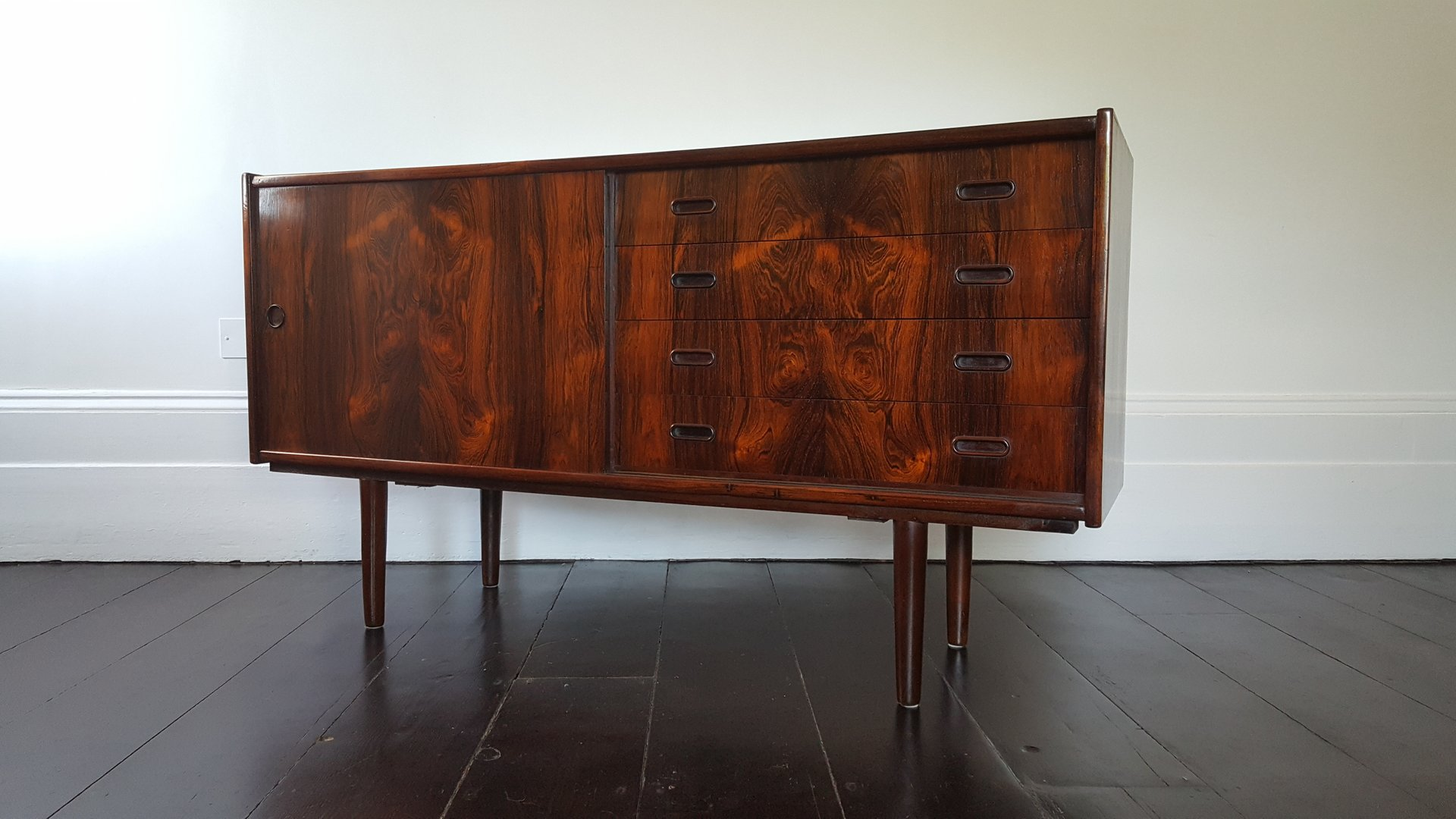 Danish Rosewood Credenza : Large danish rosewood credenza with dry bar sold