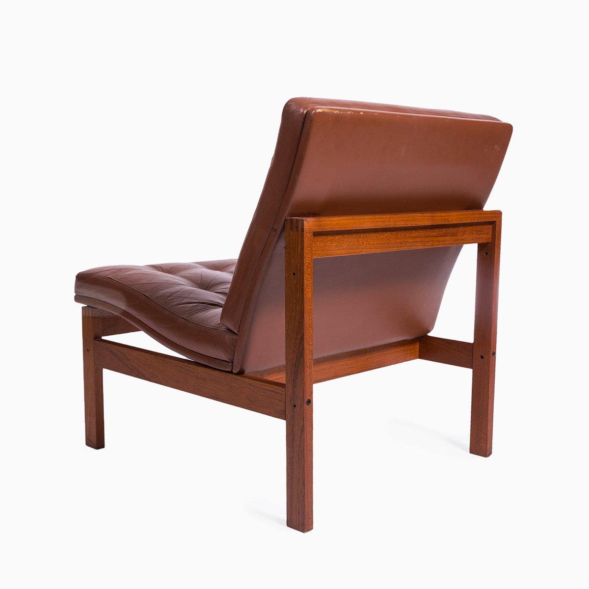 vintage ledersessel von cado bei pamono kaufen. Black Bedroom Furniture Sets. Home Design Ideas