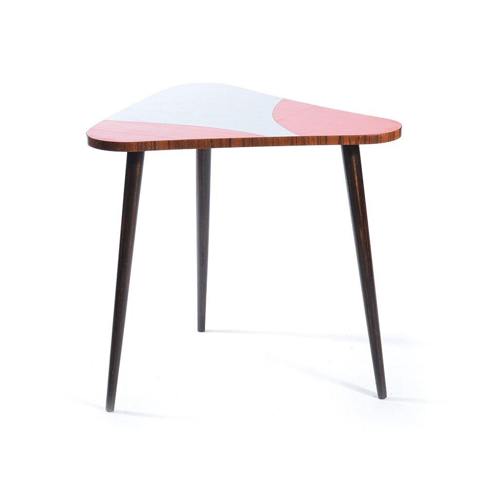 Tavolino da caff triangolare in formica anni 39 60 in for Tavolino anni 60 design