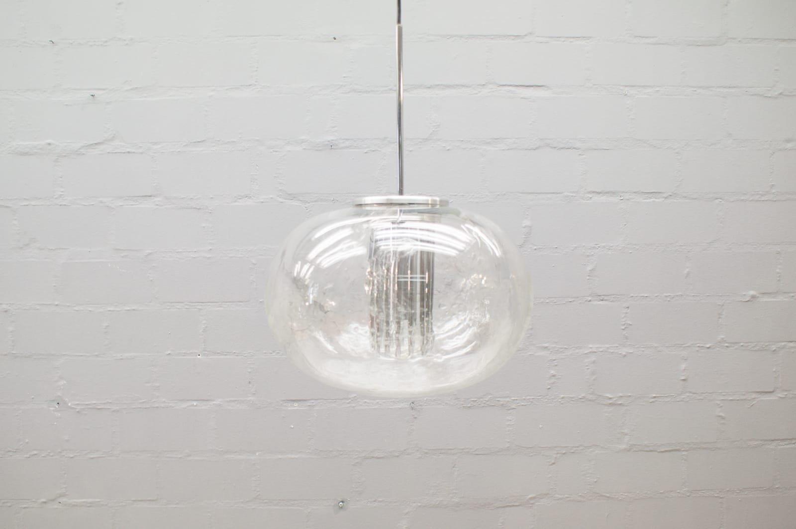 Ice Glass Ball Lamp From Doria Leuchten, 1960s