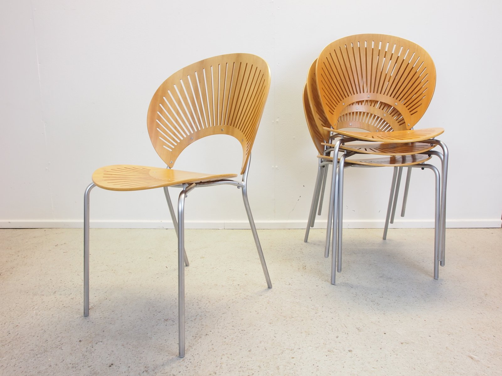 Vintage trinidad chairs by nanna ditzel for frederica set