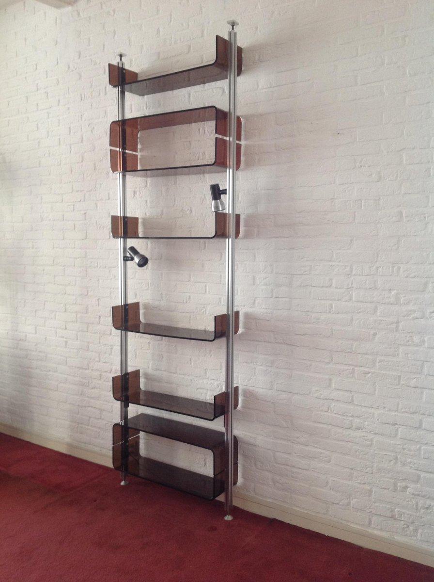syst me d 39 tag re vintage par mich l ducaroy pour roche bobois 1970 en vente sur pamono. Black Bedroom Furniture Sets. Home Design Ideas