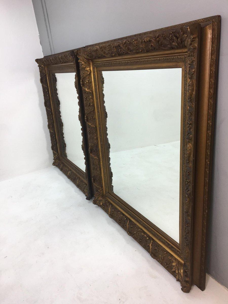 Espejos de pared holandeses con marco de plumas, siglo XIX. Juego de ...
