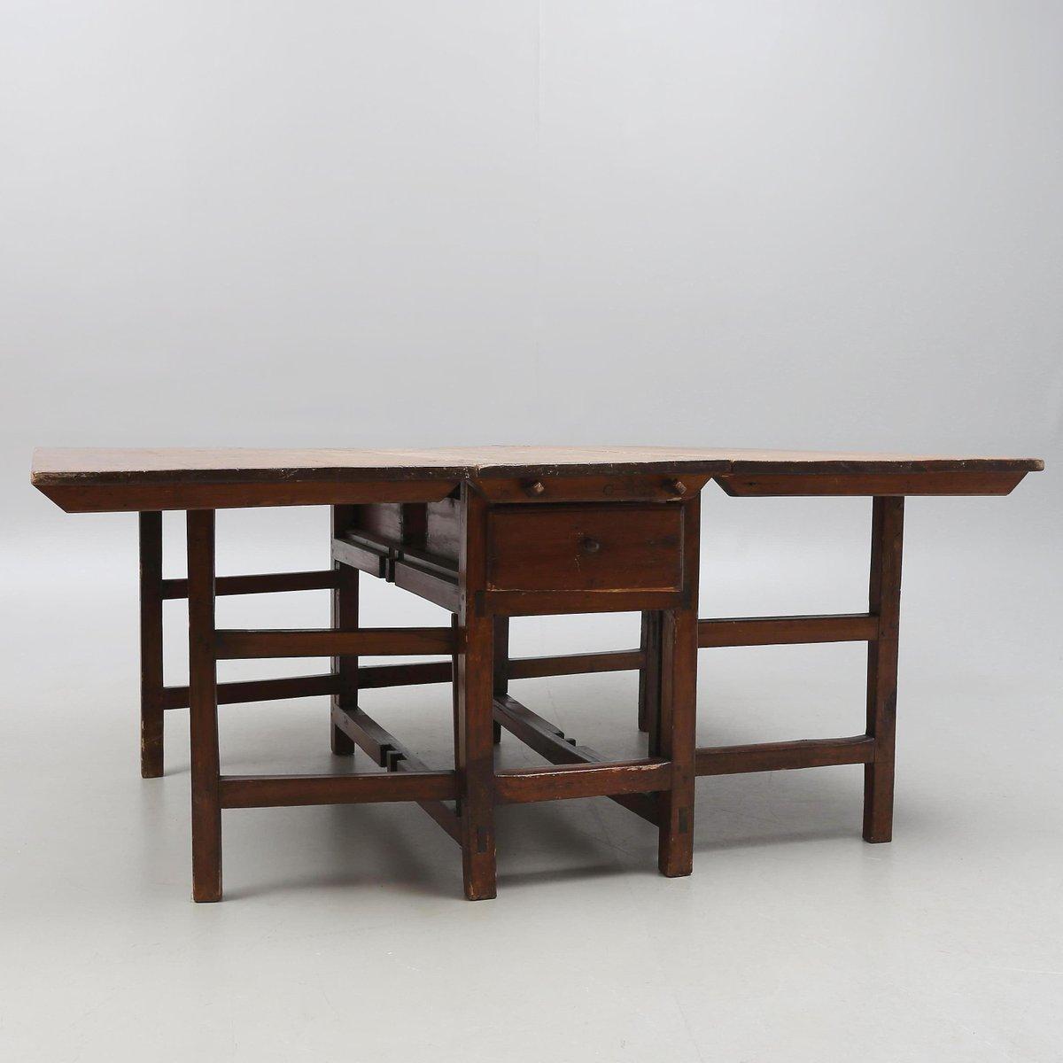 esszimmerset mit tisch und vier st hlen aus 18 jhdt bei pamono kaufen. Black Bedroom Furniture Sets. Home Design Ideas