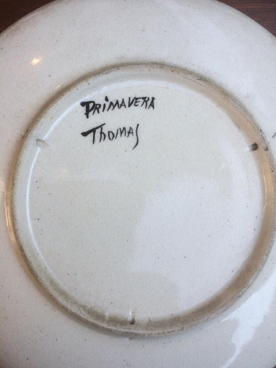 Price per piece & Art Deco Plate by Thomas for Primavera 1920s for sale at Pamono