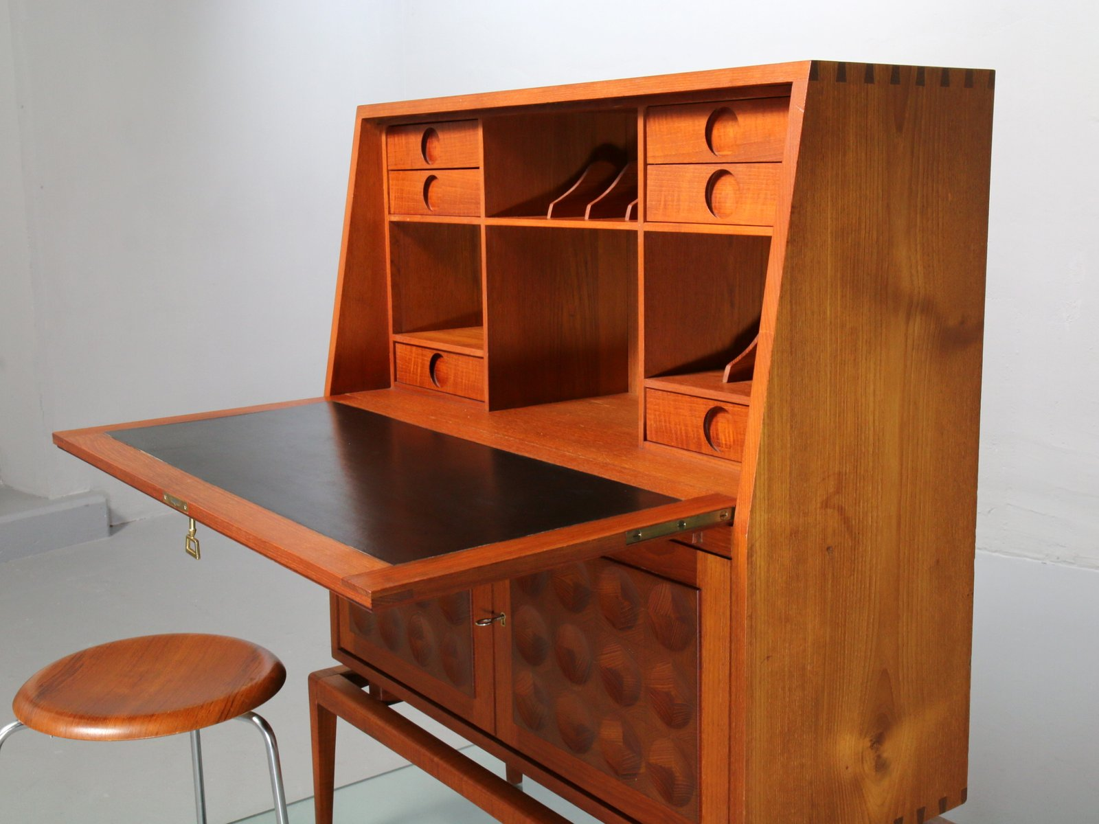 mid century teak sekret r 1960er bei pamono kaufen. Black Bedroom Furniture Sets. Home Design Ideas