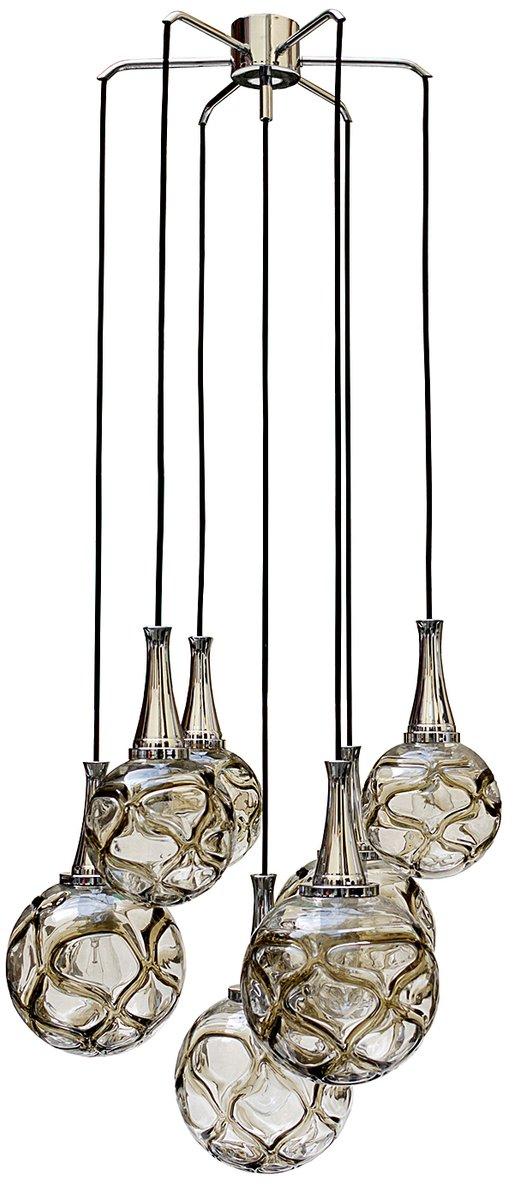 deutsche kaskadierende h ngelampe mit glaskugeln 1960er bei pamono kaufen. Black Bedroom Furniture Sets. Home Design Ideas