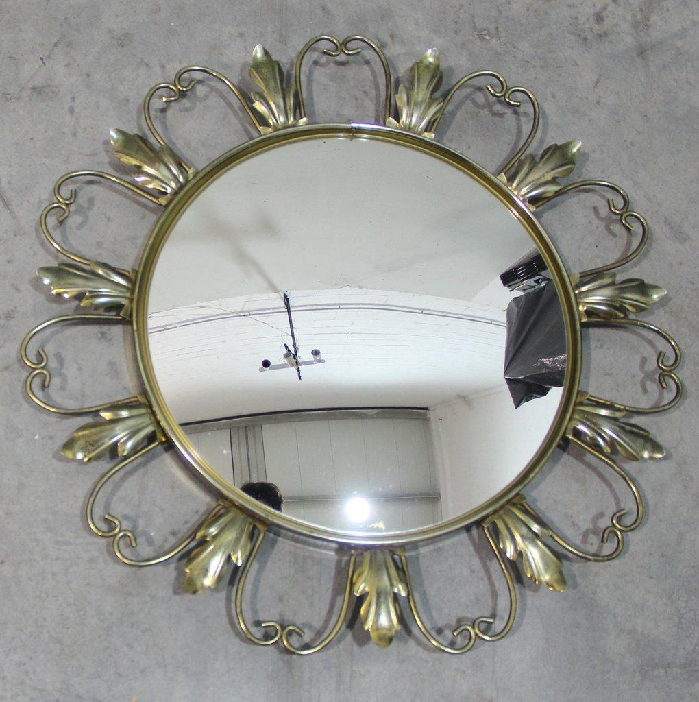 franz sischer runder spiegel 1960er bei pamono kaufen. Black Bedroom Furniture Sets. Home Design Ideas