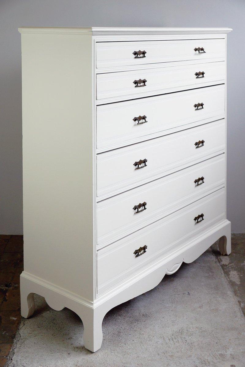 gro e kommode mit 6 schubladen 1920er bei pamono kaufen. Black Bedroom Furniture Sets. Home Design Ideas