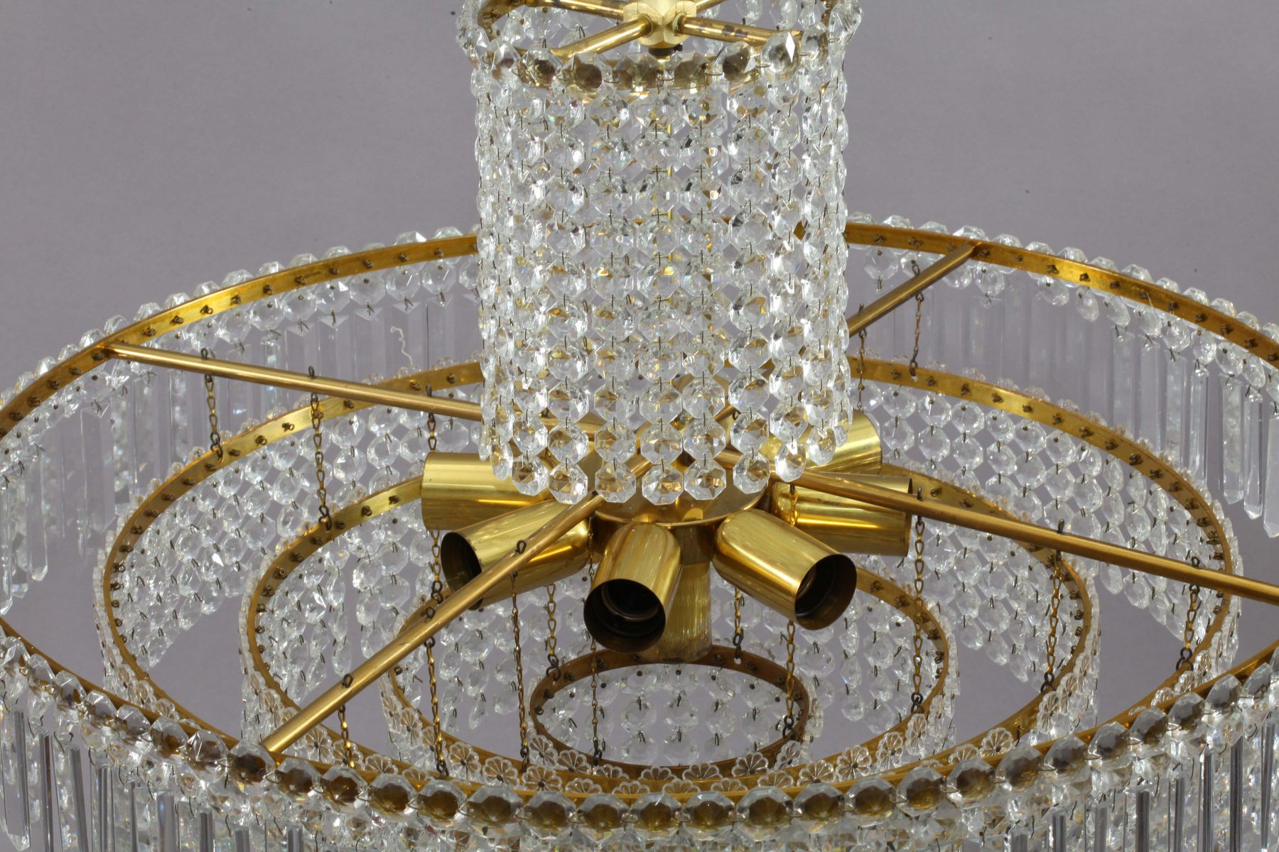 Crystal Glass Chandelier from Bakalowits & Sohne 1950s for sale