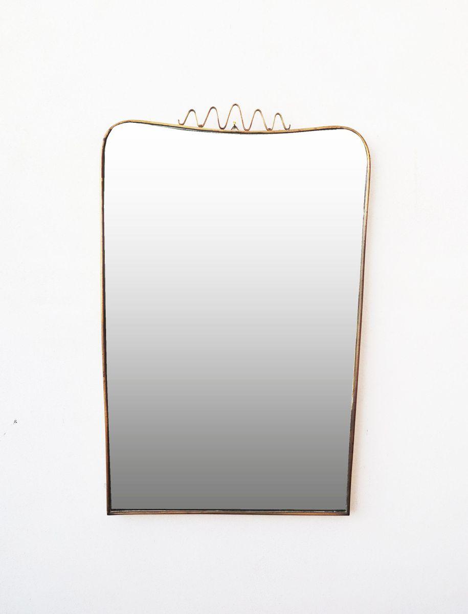 mid century spiegel mit rahmen aus messing bei pamono kaufen. Black Bedroom Furniture Sets. Home Design Ideas
