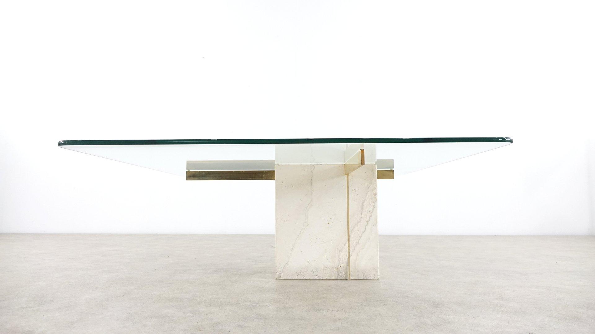 Table Basse en Travertin d\'Artedi, 1975 en vente sur Pamono