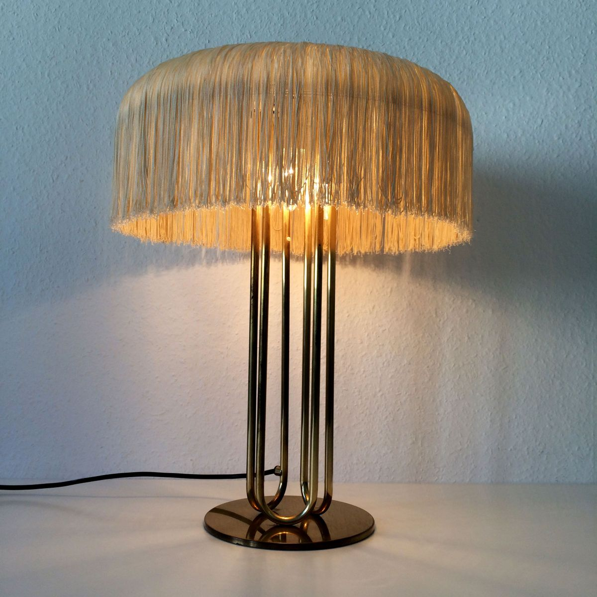 Large mid century brass table lamps set of 2 for sale at pamono large mid century brass table lamps set of 2 aloadofball Gallery
