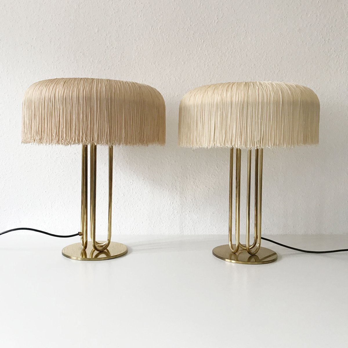 Large mid century brass table lamps set of 2 for sale at pamono large mid century brass table lamps set of 2 aloadofball Choice Image
