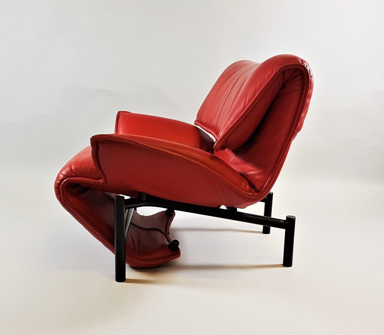 vintage veranda stuhl mit lederbezug von vico magistretti f r cassina bei pamono kaufen. Black Bedroom Furniture Sets. Home Design Ideas