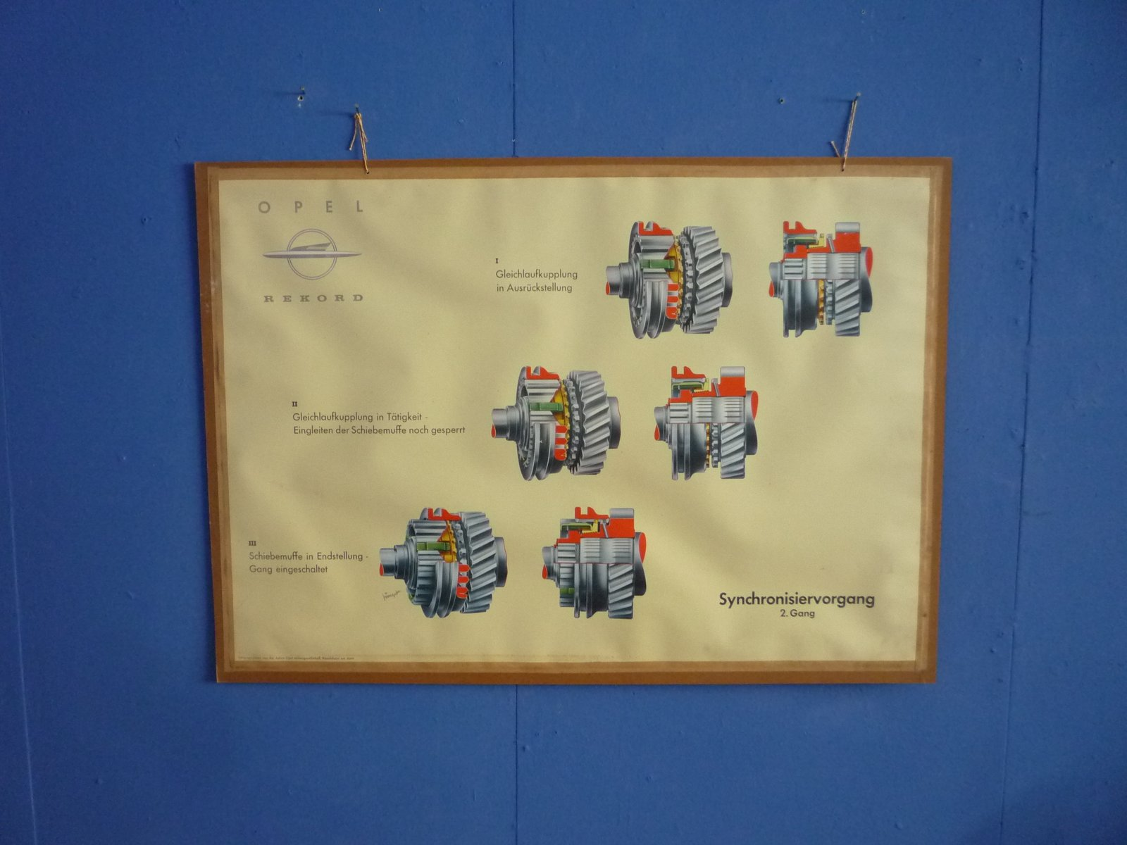 Driving School Wall Chart of Synchronizing Operation from Opel ...