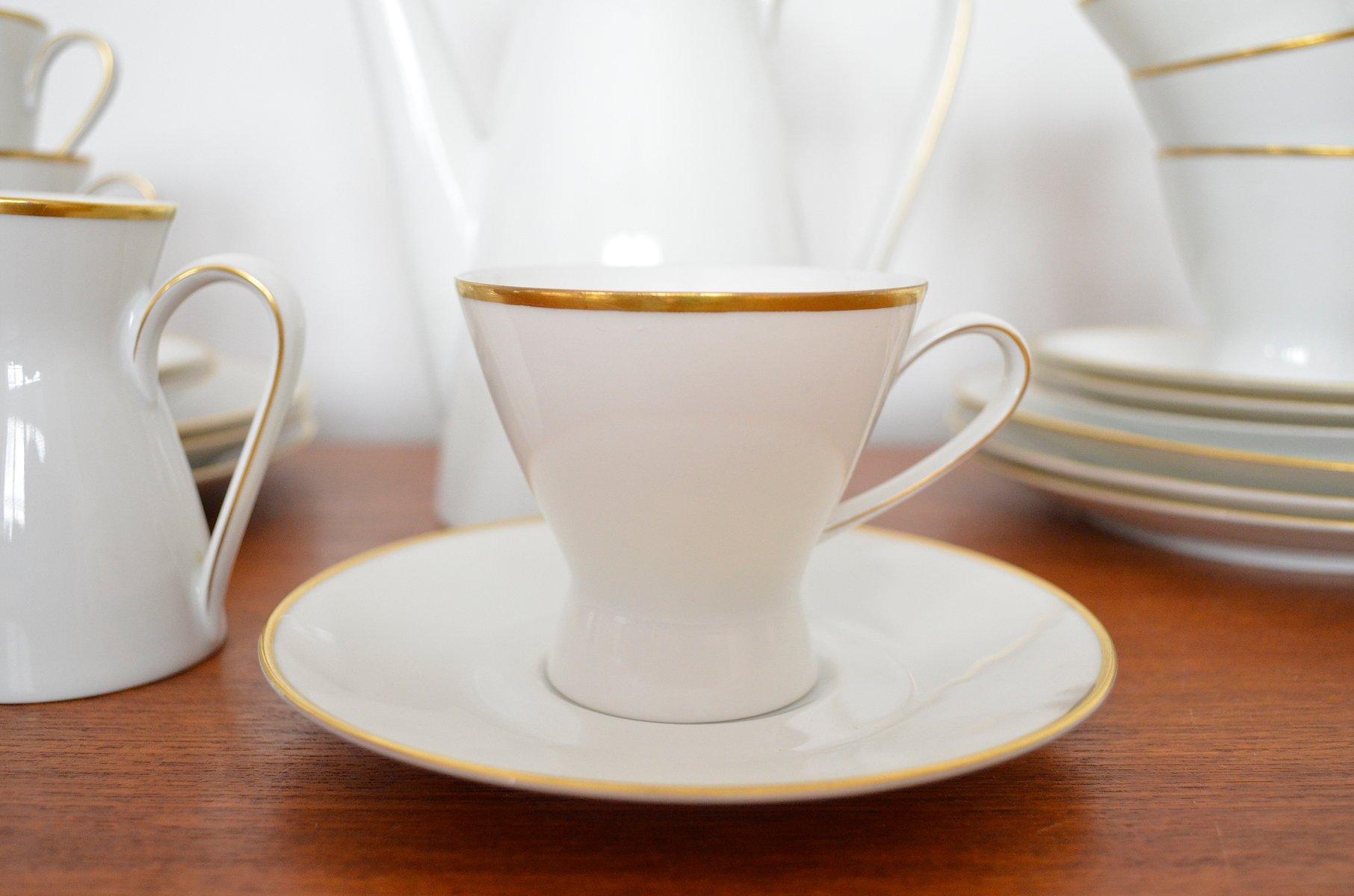 kaffeeservice f r sechs personen von raymond loewy richard latham f r rosenthal 1950s bei. Black Bedroom Furniture Sets. Home Design Ideas