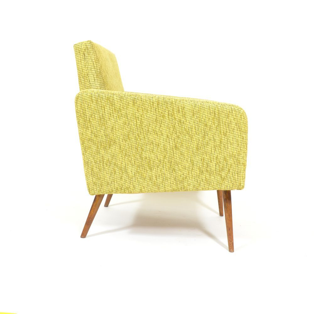 Czech Upholstered Cube Armchair 1960s For Sale At Pamono