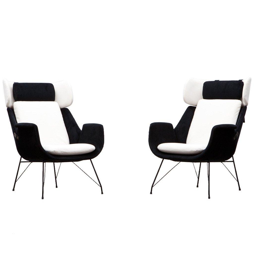 sessel in schwarz wei von augusto bozzi f r saporiti. Black Bedroom Furniture Sets. Home Design Ideas