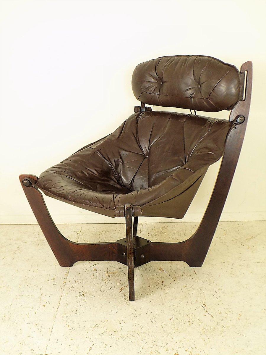 vintage luna polsterstuhl von odd knutsen f r hjellegjerde bei pamono kaufen. Black Bedroom Furniture Sets. Home Design Ideas