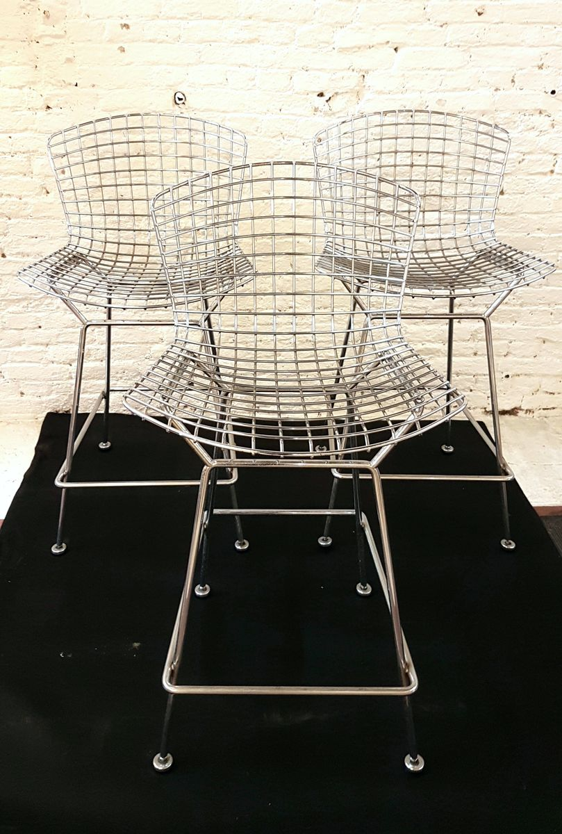 Bar Stools By Harry Bertoia For Knoll 1980s Set Of 3 For