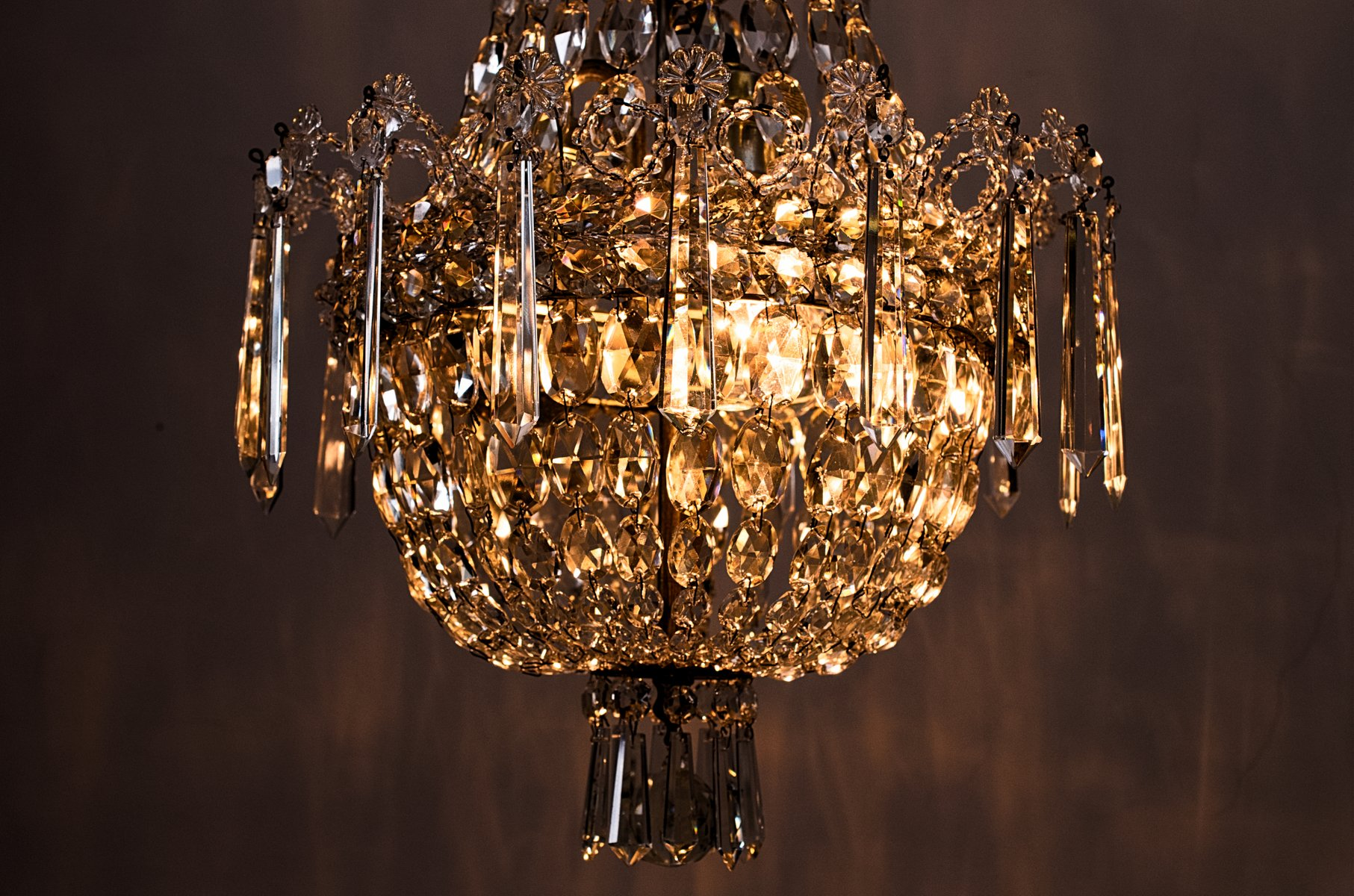 Crystal chandelier 1920s for sale at pamono ca703000 arubaitofo Image collections
