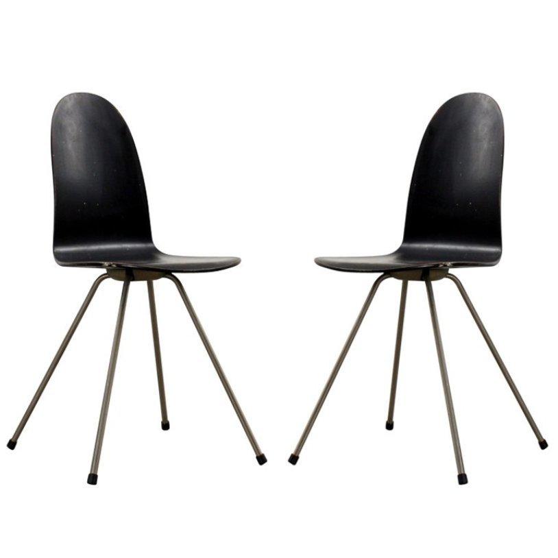 vintage tongue sessel von arne jacobsen f r fritz hansen 2er set bei pamono kaufen. Black Bedroom Furniture Sets. Home Design Ideas