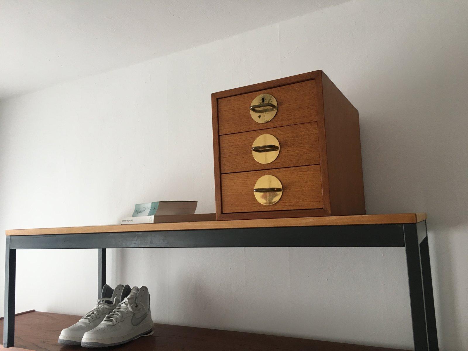 freistehende vintage triva teak bank mit schubladen von erik herl v f r nordiska kompaniet bei. Black Bedroom Furniture Sets. Home Design Ideas