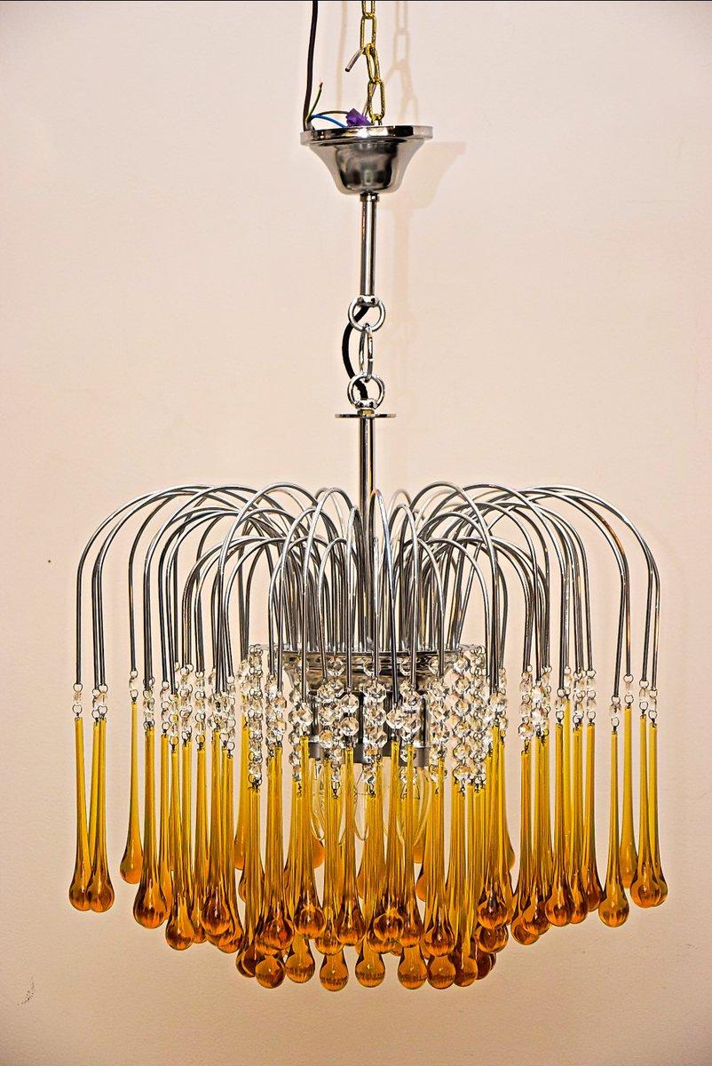 murano glas kronleuchter von paolo venini 1960er bei. Black Bedroom Furniture Sets. Home Design Ideas