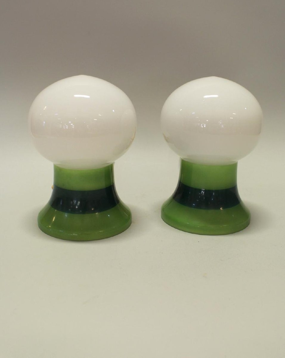 Solid Glass Table Lamps 1960s Set Of 2 For Sale At Pamono