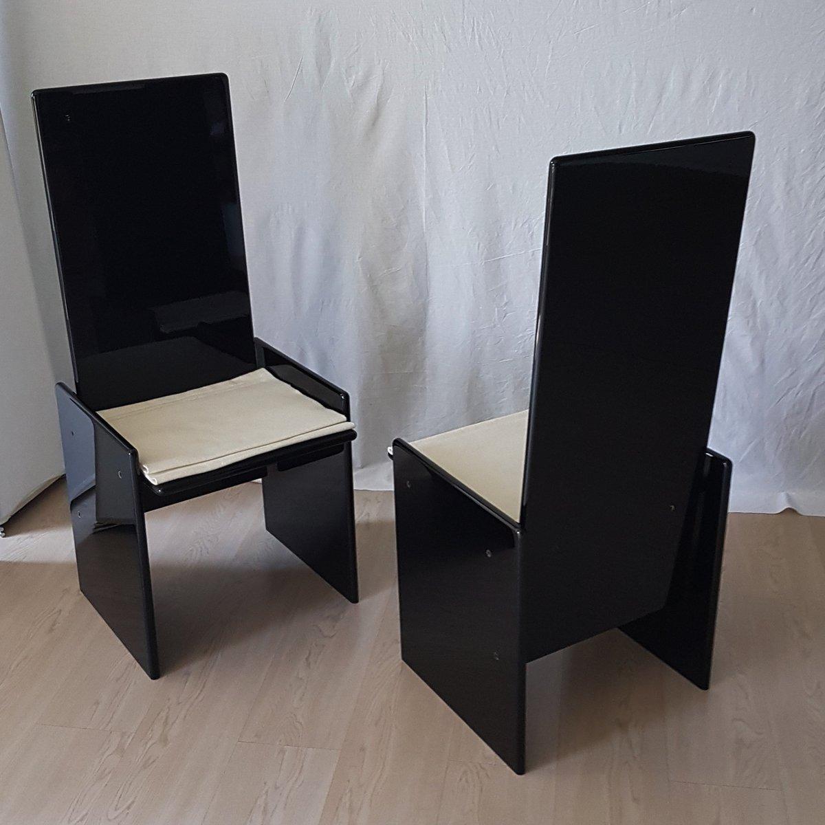 schwarze vintage st hle von kazuhide takahama f r simon 2er set bei pamono kaufen. Black Bedroom Furniture Sets. Home Design Ideas