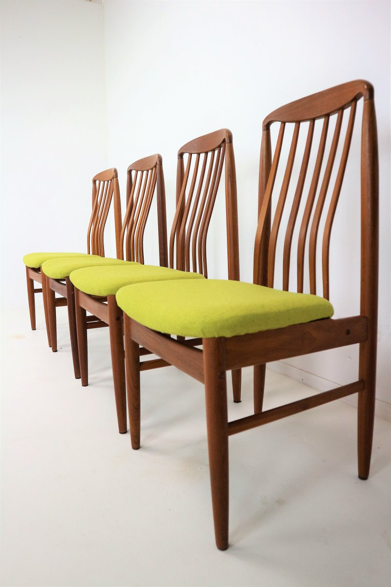 Teak Dining Chairs By Benny Linden 1978 Set Of 4 For Sale At Pamono