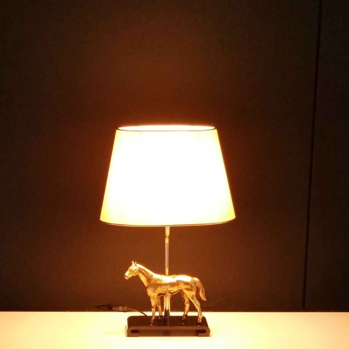 Hollywood regency table lamp with brass horse 1970s for sale at price per piece aloadofball Image collections
