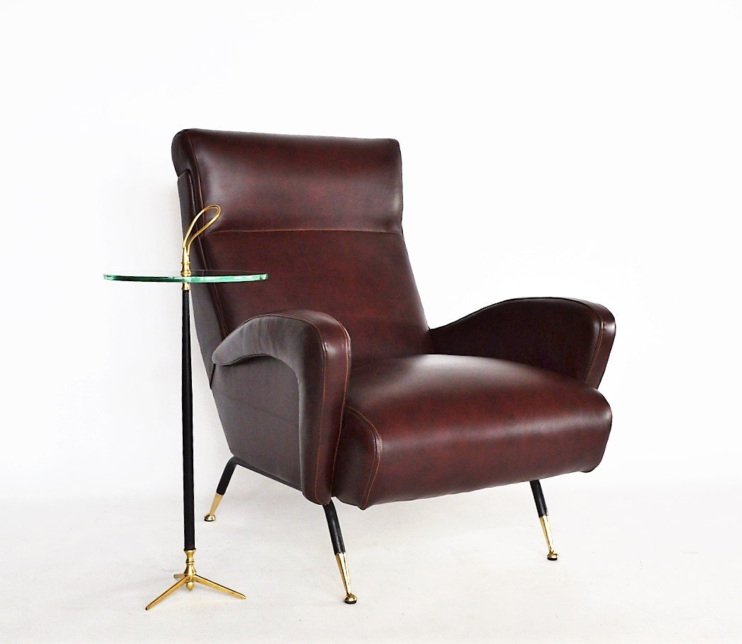 Italian Leather Armchair 1950s For Sale At Pamono