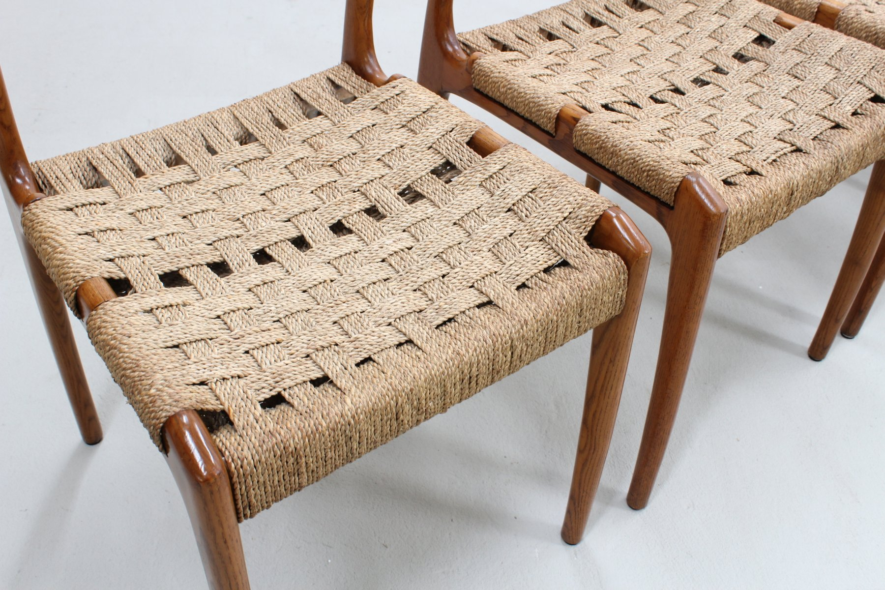 Mid Century Rope Dining Chairs From Fratelli Reguitti, Set Of 5