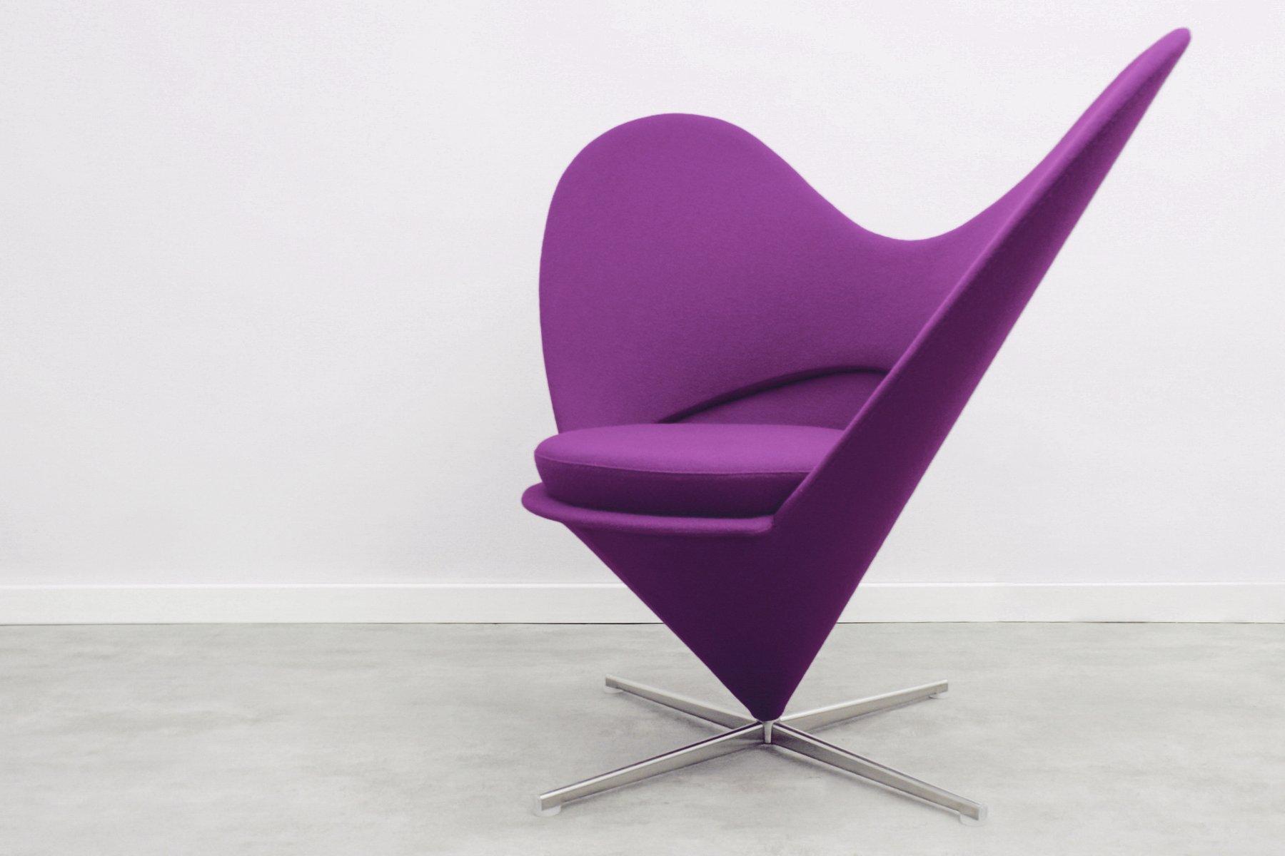 heart cone sessel von verner panton f r vitra 1980er bei pamono kaufen. Black Bedroom Furniture Sets. Home Design Ideas