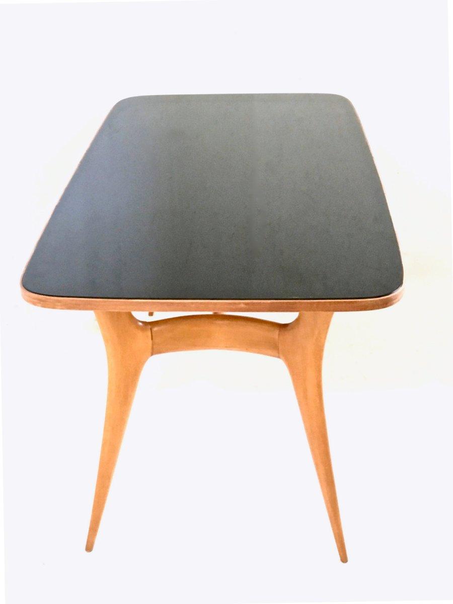 Table de salle manger en erable avec plateau en verre 1950s en vente sur pamono - Plateau en verre pour table de salle a manger ...