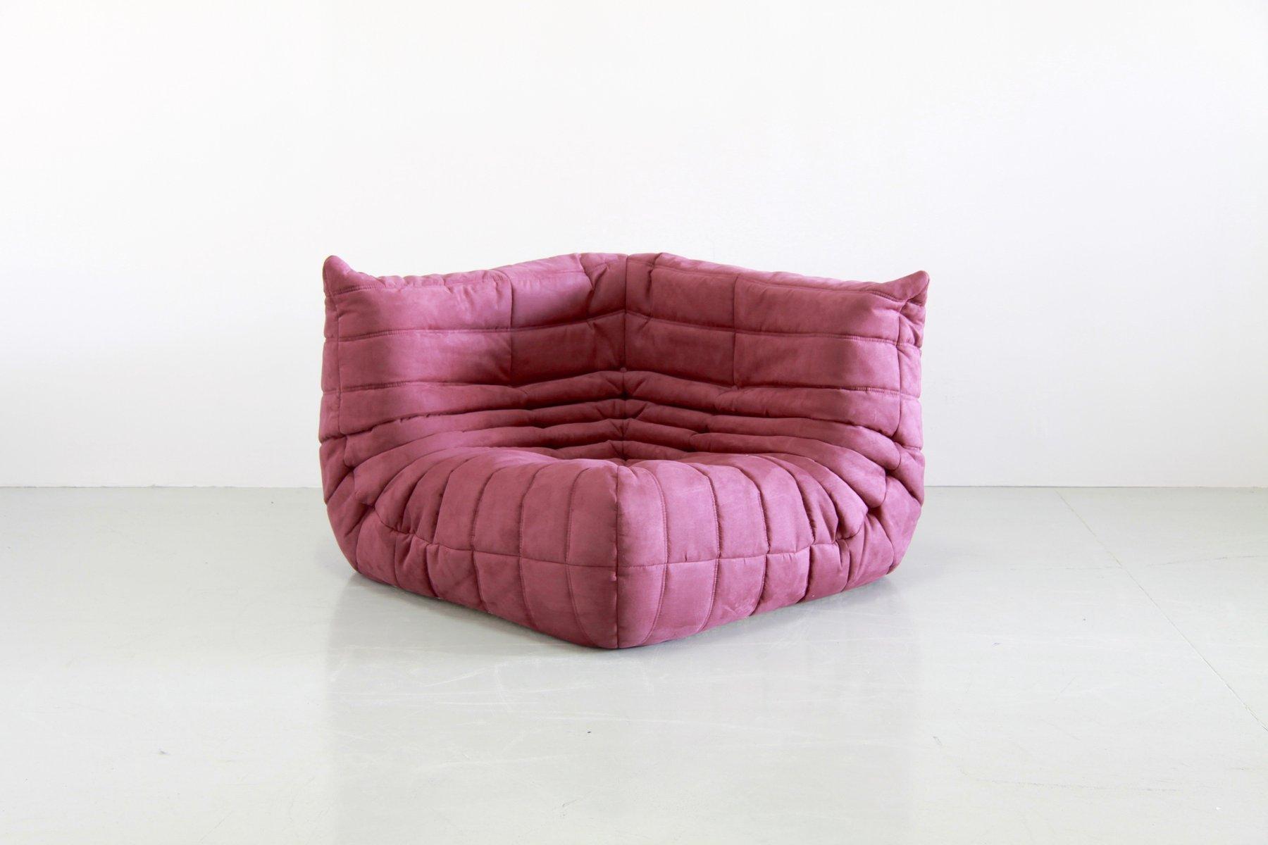 vintage aubergine togo living room set by michel ducaroy. Black Bedroom Furniture Sets. Home Design Ideas
