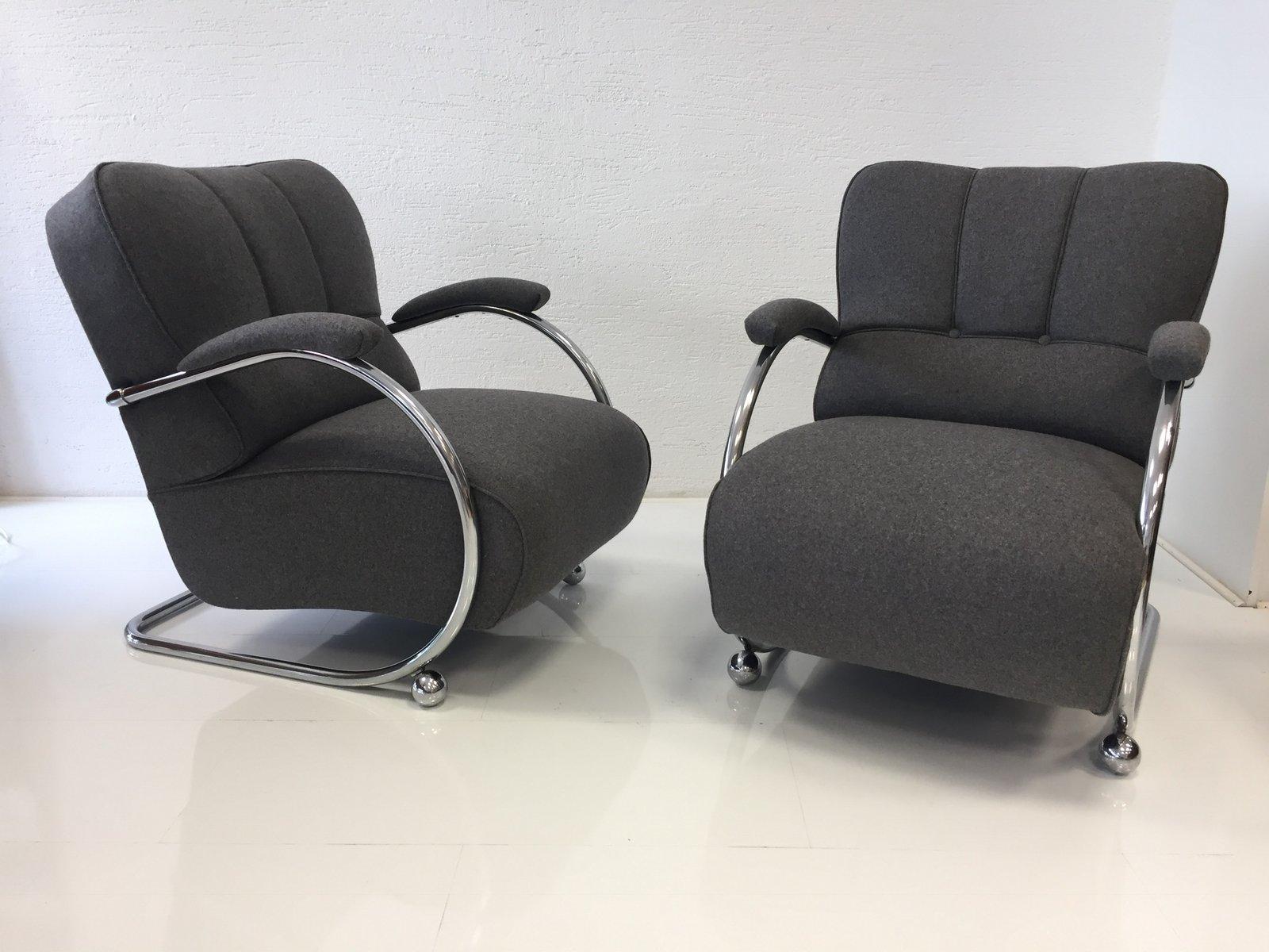 Stahlrohr Sessel vintage stahlrohr sessel 2er set bei pamono kaufen