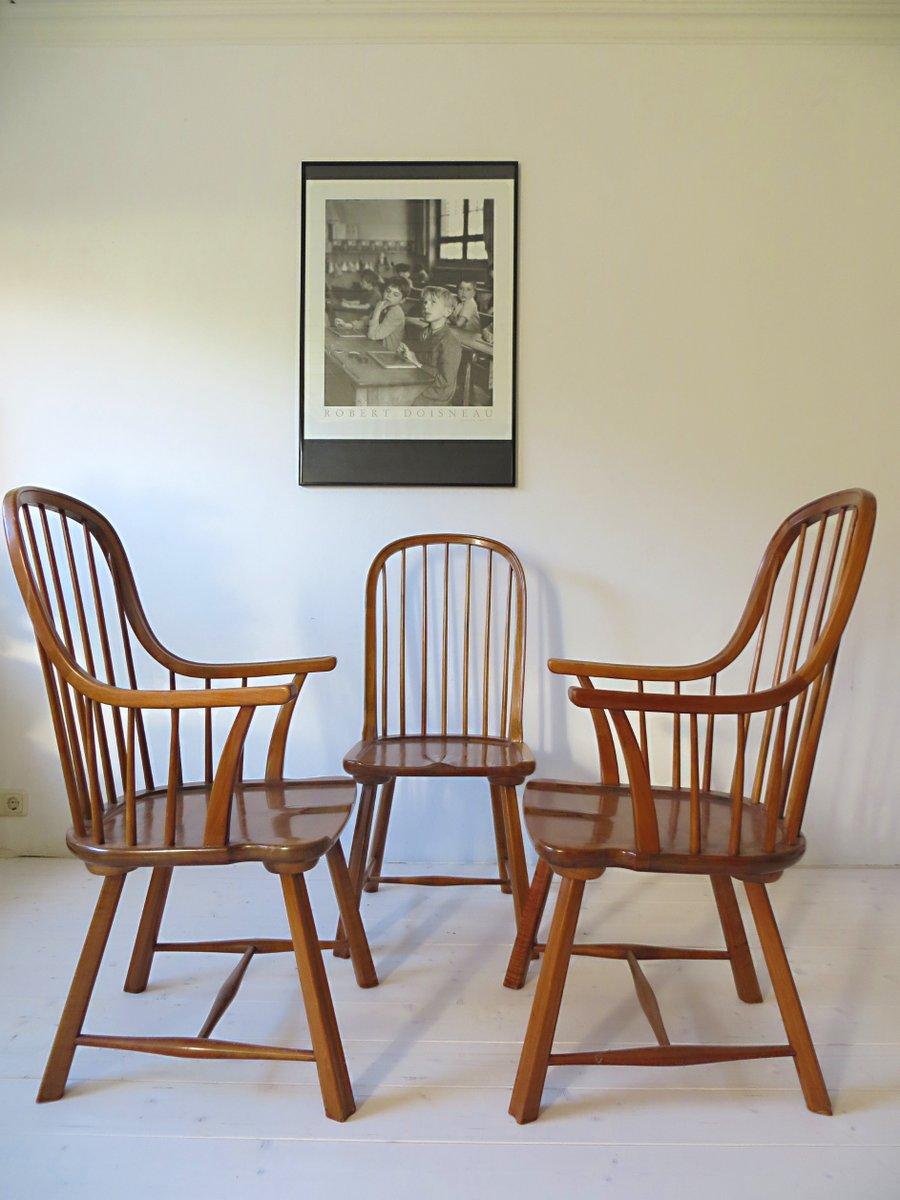 skandinavische buchenholz st hle 1950er 3er set bei. Black Bedroom Furniture Sets. Home Design Ideas